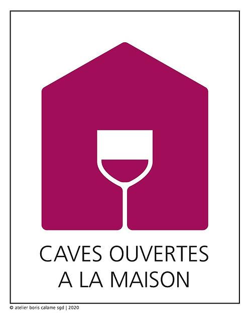 """Carton de dégustation 75cl """"Caves ouvertes à la maison"""""""