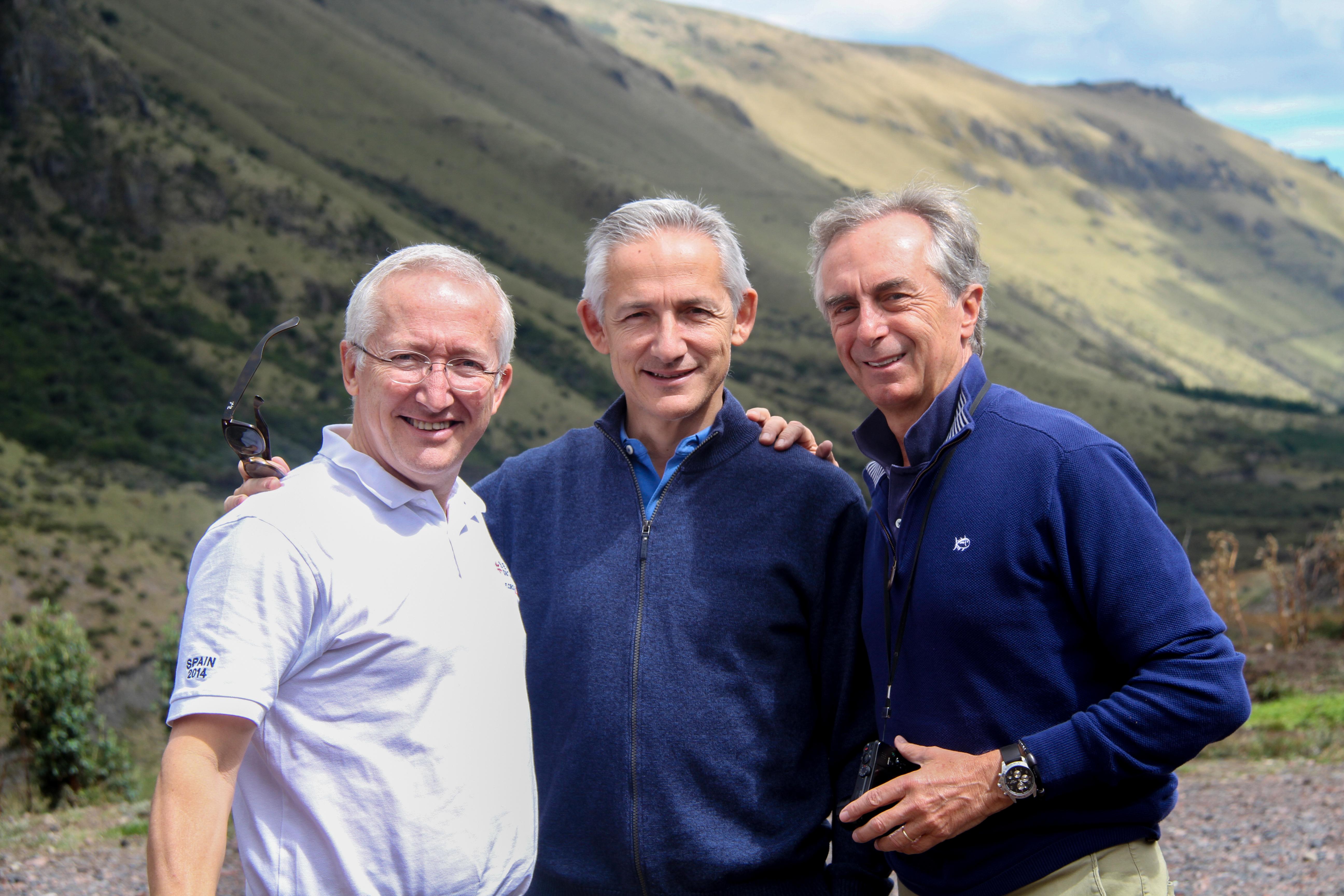 José María, Álvaro, Carlos