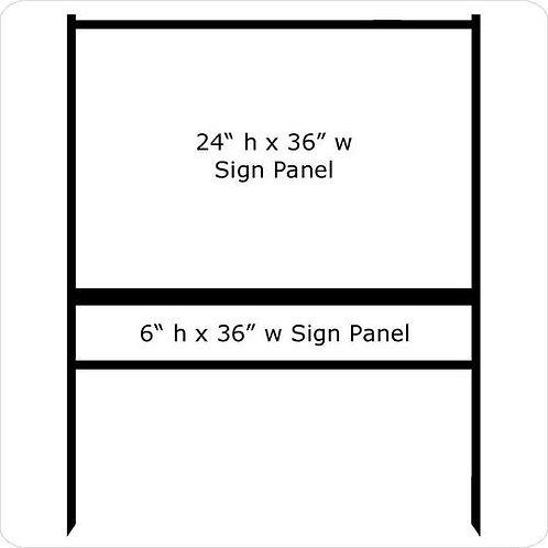 "24"" x 36"" Real Estate Sign Frame (1) Rider"