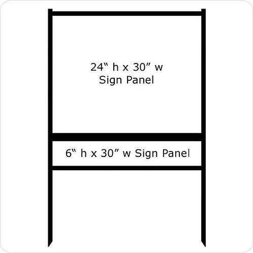 "24"" x 30"" Real Estate Sign Frame (1) Rider"