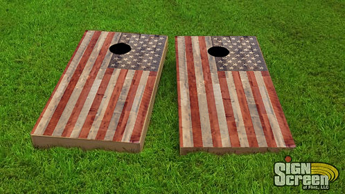 American Flag Cornhole Wrap, Flag, Wrap, Cornhole, American Pride, Decal