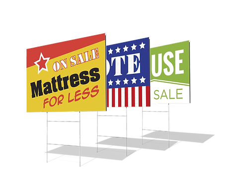 """18"""" x 24"""" Yard Signs - Full Color"""