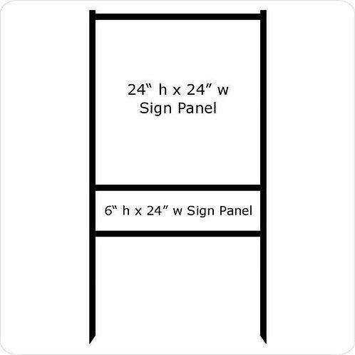 "24"" x 24"" Real Estate Sign Frame (1) Rider"