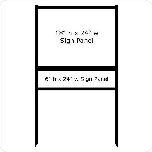"18"" x 24"" Real Estate Sign Frame (1) Rider"