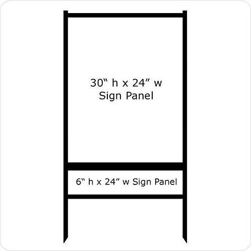 "30"" x 24"" Real Estate Sign Frame (1) Rider"