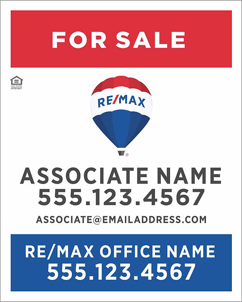"""Remax - 24"""" x 30"""" Sign"""