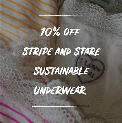 10% off Stripe and Stare Underwear