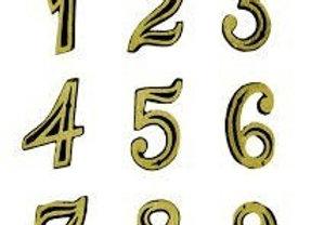 Número Residencial Dourado (Metal) - APARTAMENTO