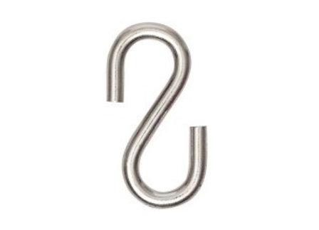 """Gancho """"S"""" N.4 Zinco (6 Unidades)"""