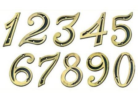 Número Residencial Dourado (Plástico)