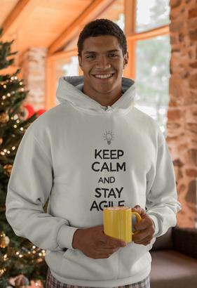 Keep Calm and Stay Agile Hoodie