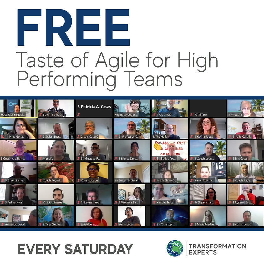 Taste of Agile for Remote High Performing Teams | November 7th