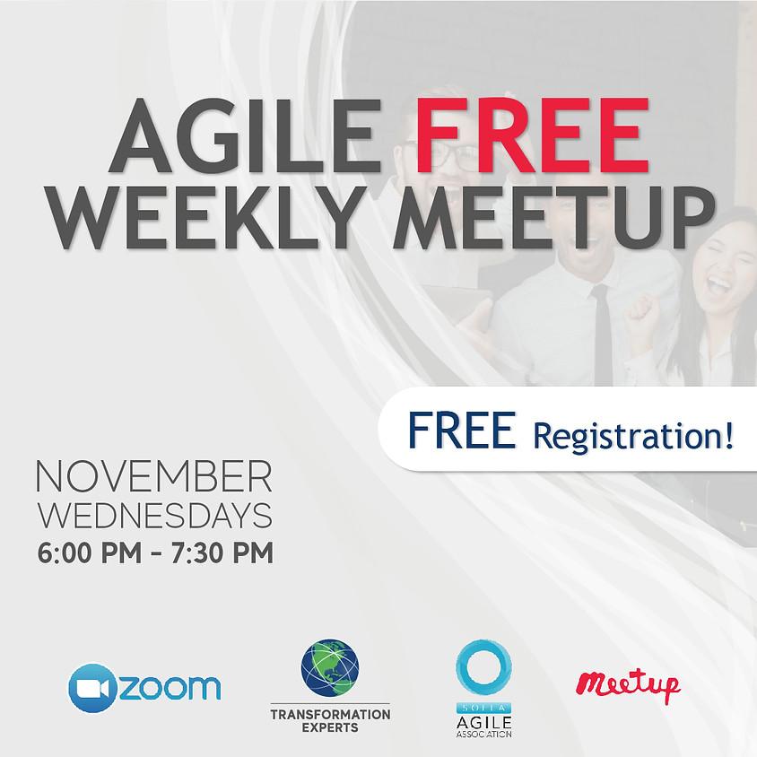 Agile Free Weekly Meetup | Nov 4th