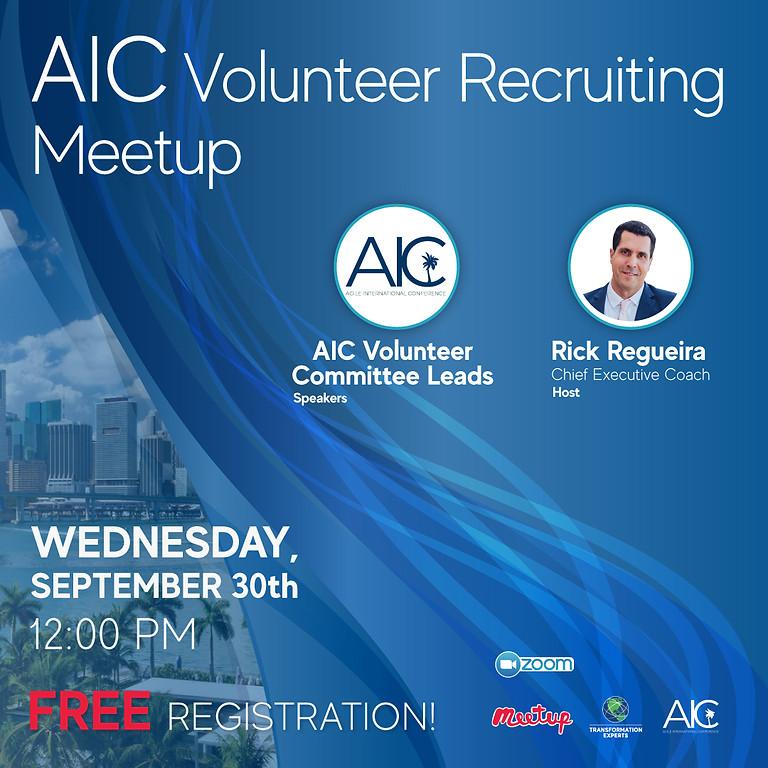 AIC Volunteer Recruiting Meetup