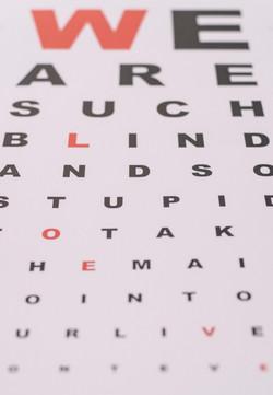 Eye check poster