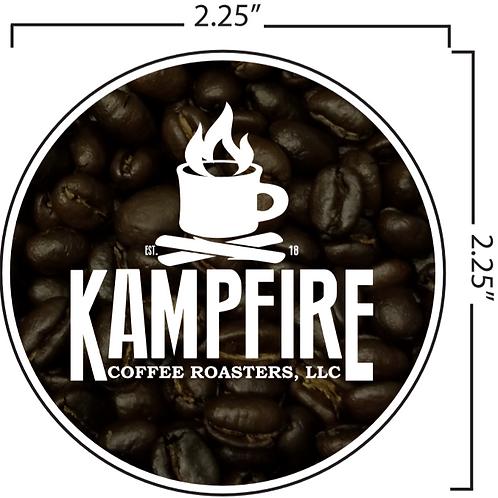 """KAMPFIRE """"Coffee Beans"""" Sticker"""