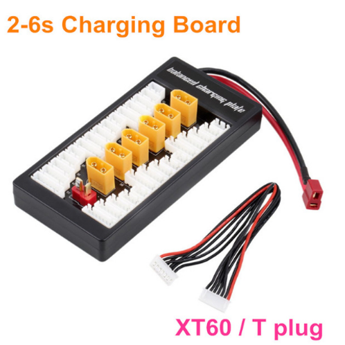 2S-6S Lipo Parallel Charging Board / Charging Plate T Plug XT60 plug for RC Batt