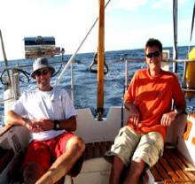 Davo and Davo crossing Bass Strait