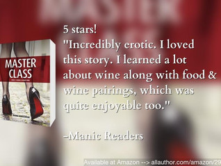 Pairing sexy romance with fine wine gets you a 5 star review!