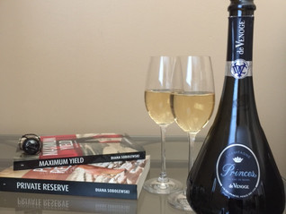 Celebrating the release of book 2 with Champagne!