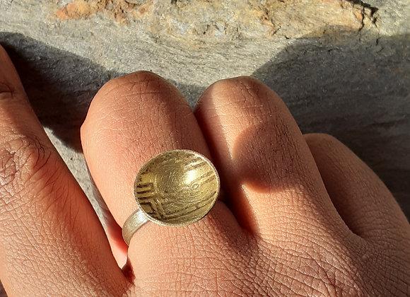 Resin & Brass Ring