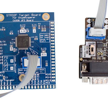 STM32F4HWC Target w/ CANoodler bundle. Allows building demos using CAN peripheral of STM32F4 and hardware crypto.