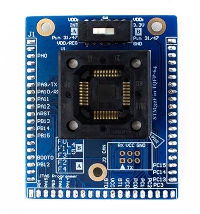 STM32F-TQFP64 Socket Target for CW308