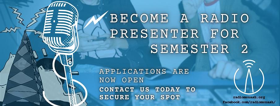 Become a Radio Presenter for Semester 2.