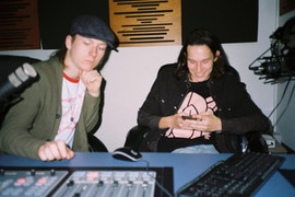 Thom and Cam in the Studio