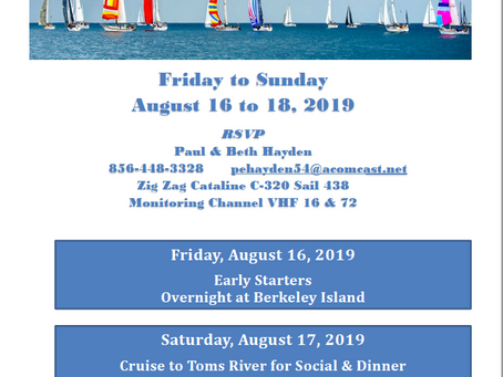TOYC Cruise the Bay Weekend - August 16-18, 2019
