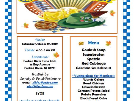 TOYC Octoberfest October 19, 2019 4-8pm