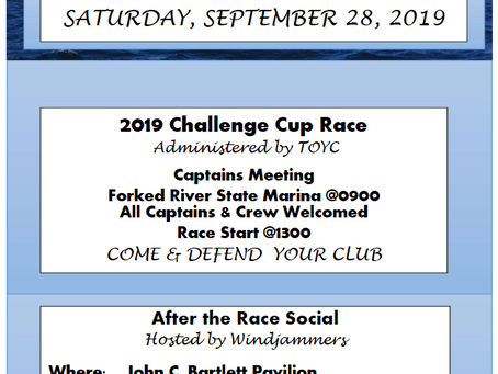 Annual Challenge Cup Race - Saturday September 28