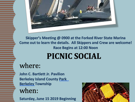 TOYC Race #1 and Picnic Social Saturday June 15, 2019