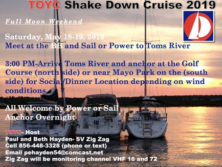 TOYC Shakedown Cruise - Saturday & Sunday May 18-19, 2019