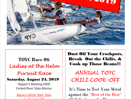TOYC Race #6, Ladies at the Helm Pursuit Race and Chili Cook-Off - August 24, 2019