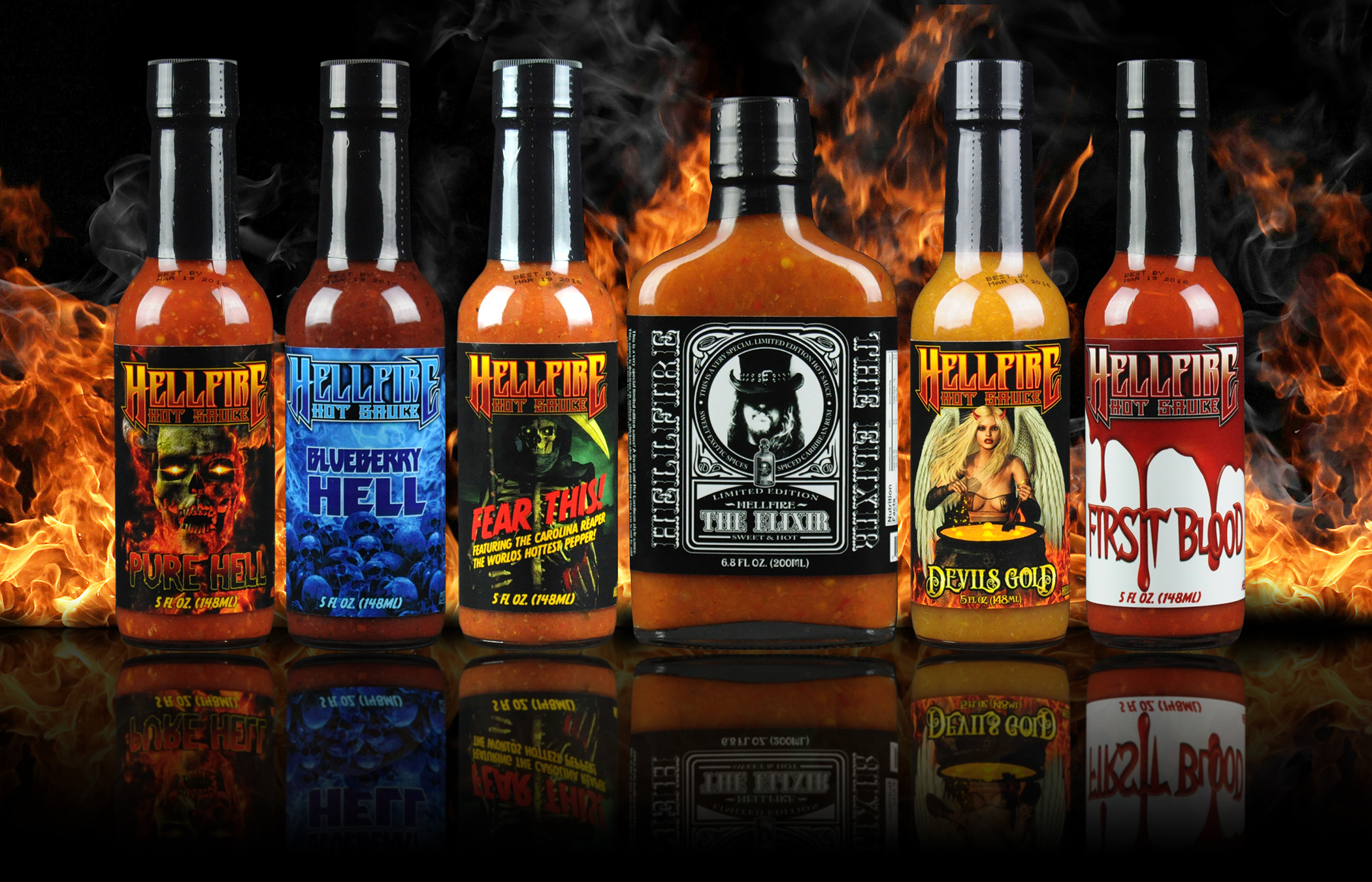 Hot Sauces For Sale - Hottest Hot Sauces | Hellfire Hot Sauce