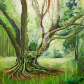 Grüner, alter, weiser Baumfreund