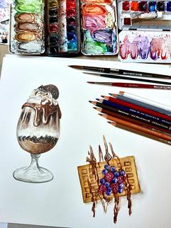 Food-Illustration: Dessert