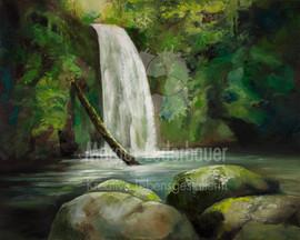 Durchatmen am Wasserfall