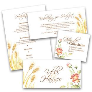 Gestaltung und Illustration von Hochzeitsdrucksorten