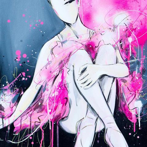Pretty in Pink Ballerina (study)