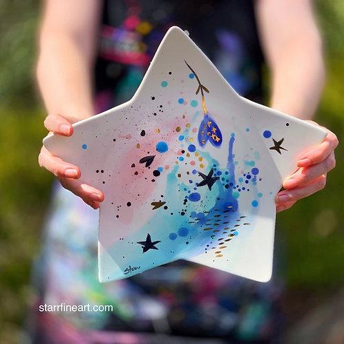Blue Star Platter 'I Heart the Stars'