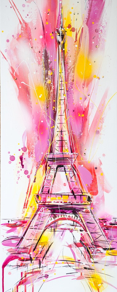 Eiffel Tower in Pink