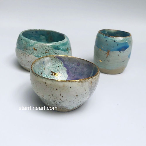 Set of 3 Handmade Condiment Bowls (SOLD)