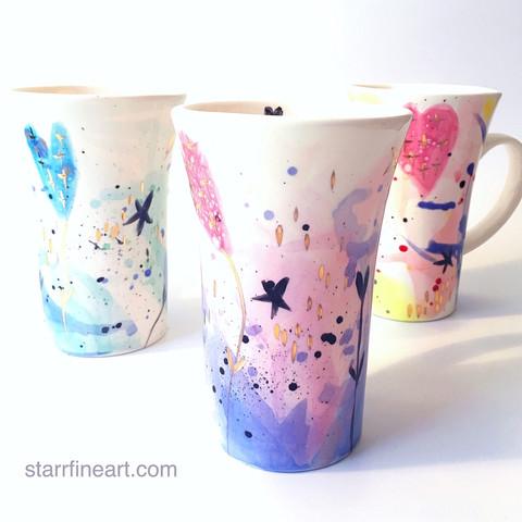 Ceramic coffee cups