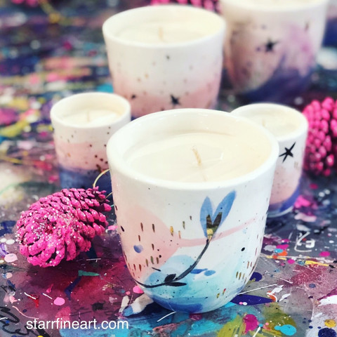 Soy ceramic candles