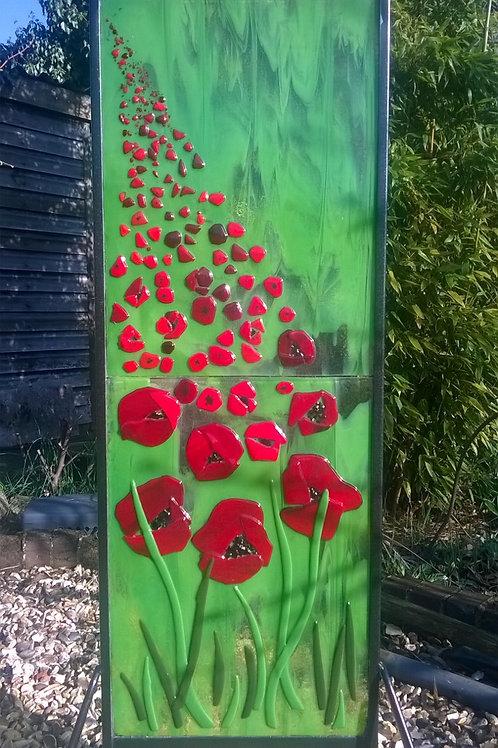 Field of Poppies garden panel