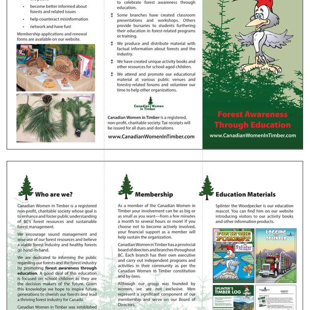 Canadian Women in Timber Tri-fold brochure