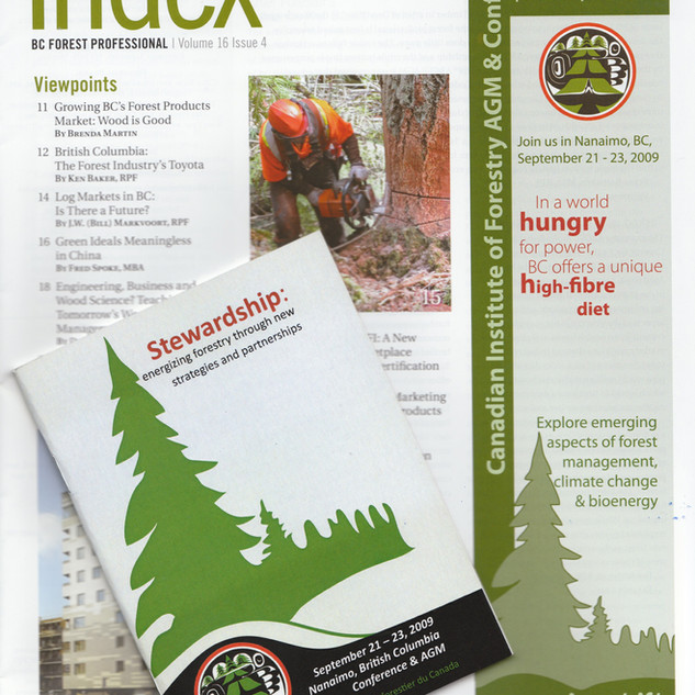 Canadian Institute of Forestry Program and magazine advertisement
