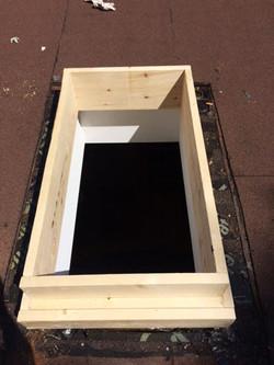 custom built curb for skylight